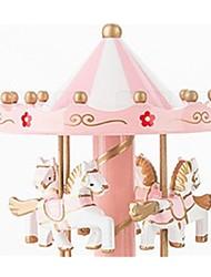 abordables -Balles Boîte à musique Jouets Articles d'ameublement Cheval Carrousel Fleur Plastique Bois Pièces Unisexe Anniversaire Cadeau