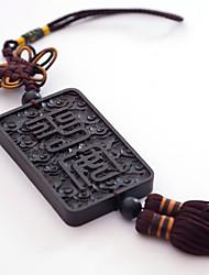 abordables -Diy pendentifs automobiles style chinois noeud chinois bouddha perles pendentif voiture&Ornements boisés