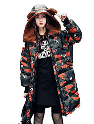 cheap -Women's Long Padded - Camouflage