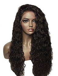 Elegant Water Wave For Black Women Glueless Comfortable Wearing Full Lace Human Virgin Hair Wigs With Baby Hair