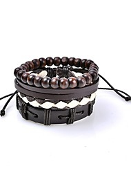 Women's Men's Leather Bracelet Jewelry Ribbons Love Gothic Sexy Cute Style Fashion Vintage Leather Circle Geometric Jewelry ForParty