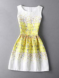Girl's Print Jacquard Dress,Rayon Spring Summer Sleeveless