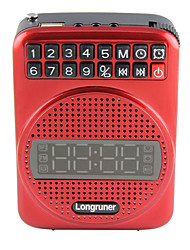 L16 Portable Radio Clock Alarm Clock  Notebook Speakers Can Be Inserted U Disk