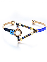 cheap -Lureme Bohemian Jewelry Simple Triangle with Colorful Beads Cuff Bangle for Women