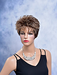cheap -Synthetic Wig Curly Blonde Women's Natural Wigs Short Synthetic Hair
