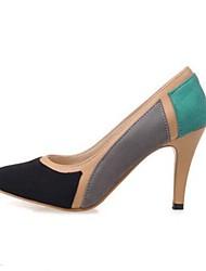 Для женщин Обувь Нубук Весна Удобная обувь Обувь на каблуках Назначение Повседневные Черный Синий Розовый