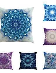 Set Of 6 Bohemia Design Flowers Pillow Cover Vintage Square Pillow Case Sofa Cushion Cover