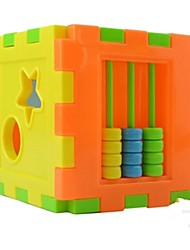 cheap -Cute 10pcs Shape Plug Box Small Hand Cerebellum Moving Cognitive Block Toy