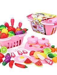 Недорогие -Игрушечная еда Ролевые игры Игрушки Овощи Ножи для овощей и фруктов Овощи и фрукты Фрукт моделирование Пластик Детские Подарок
