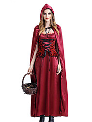 cheap -Little Red Riding Hood One Piece Dress Cosplay Costume Masquerade Female Halloween Carnival Festival / Holiday Halloween Costumes Red