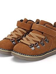 preiswerte -Jungen Schuhe Leder Winter Springerstiefel Komfort Stiefel Walking Niete Klettverschluss Elastisch Geflochtene Riemchen für Normal