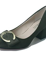 Women's Slippers & Flip-Flops Summer Comfort PU Casual Chunky Heel  Black White Walking