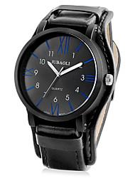 baratos -Homens Quartzo Relógio de Pulso Chinês Venda imperdível Couro Banda Vintage Relógio Criativo Único Legal Preta Marrom