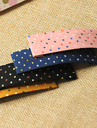 cheap -Cloth Dots BB Knot ColorHairpin Side Clip Back Affixed To The Fabric Does Not Hurt Hair Color Mixed Hair 20PCS