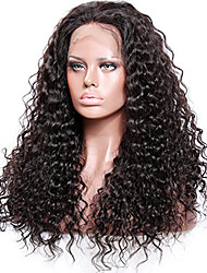 cheap -Remy Human Hair Full Lace / Glueless Full Lace Wig Curly 130% / 150% / 180% Density Natural Hairline / African American Wig / 100% Hand Tied Women's Short / Medium Length / Long Human Hair Lace Wig