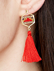 cheap -Women's Tassel / Long Earrings - Stainless Steel, Gold Plated Tassel, Bohemian, Fashion Light Green / Candy Pink / Teal For Event / Party / Gift / Evening Party