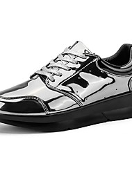 Men's Athletic Shoes Comfort Summer Fall Fabric Walking Shoes Casual Lace-up Flat Heel Gold Black Gray Flat