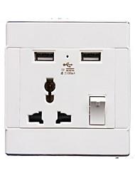 Sorties électriques PP Avec prise USB Charger 8*8*4