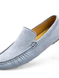 cheap -Men's Loafers & Slip-Ons Comfort Spring Fall PU Outdoor Blue Light Blue Khaki Flat