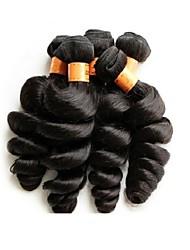 Недорогие -Волосы, не подвергавшиеся обработке Натуральные волосы Реми Натуральные волосы Пряди натуральных волос Реми Высокое качество 1 год 0.5