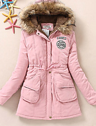 10 Colors New Women's Winter Fox collars Jacket Women Cotton Candy Color Parkas s Winter Hooded Jacket Fashion Girls Padded Slim Long Coat Jackets