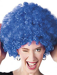Fashion Bule Color Wig For Black Women Afro Curly Synthetic Wigs For Halloween