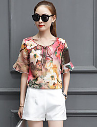 cheap -Women's Casual Blouse - Floral