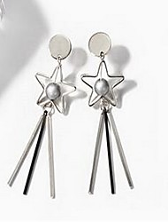 Women's Drop Earrings Jewelry Basic Tassel Fashion Alloy Star Jewelry For Gift Daily Going out Date Holiday