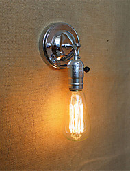 1pcs E27 Edison Vintage Loft Aisle Chrome Wall Lamp without Lamp for 110/220V