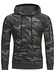 cheap -Men's Plus Size Sports Weekend Active Military Slim Hoodie - Camouflage Hooded