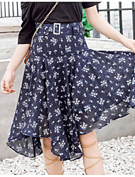 cheap -Women's Going out Sophisticated Plus Size Swing Skirts Print