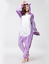 cheap -Kigurumi Pajamas Flying Horse / Unicorn Onesie Pajamas Costume Flannel Fabric Purple Cosplay For Adults' Animal Sleepwear Cartoon