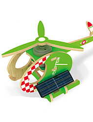 cheap -Solar Powered Toys 3D Puzzles Jigsaw Puzzle Wood Model Model Building Kit Educational Toy Plane / Aircraft Helicopter 3D Solar Powered DIY