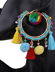 cheap -Women's Drop Earrings Tassel Vintage Bohemian Personalized Acrylic Resin Alloy Jewelry For Evening Party Stage Street Club