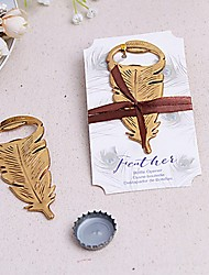cheap -Gilded Gold Feather Bottle Opener Beter Gifts® Door Gifts\ Wedding Favors