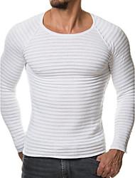 economico -Standard Pullover Da uomo-Per uscire Casual Taglie forti Sensuale Semplice Tinta unita Rotonda Manica lunga Pelliccia sintetica Primavera