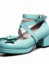 Women's Shoes Nubuck leather PU Spring Summer Comfort Heels For Casual Light Purple Green Light Pink