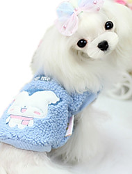 cheap -Dog Vest Dog Clothes Cartoon Red Blue Plush Fabric Down Costume For Pets Casual/Daily