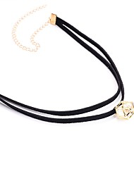 Women's Choker Necklaces Pendant Necklaces Cubic Zirconia Zircon Plush Fabric Fashion Jewelry For Daily Casual Date Going out Street
