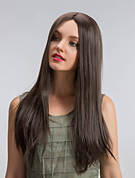 cheap -Synthetic Wig Straight Synthetic Hair Brown Wig Long Capless Brown