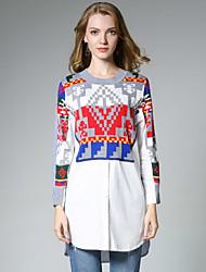 Camicia Da donna Casual Punk & Gotico Primavera Autunno,Con stampe Rotonda Cotone Manica lunga Medio spessore