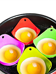 cheap -1PCS Silicone Eco-friendly Egg Poacher Boiler Heat Resistant Poaching Pods Pan Mould Baking Cup Kitchen Cooking Tool Cookware Gadget Bakeware Utensils