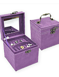1Pc Violet Open Type Three Layer Jewelry Box Ring Earrings Storage Box