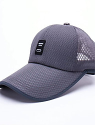 Men's Acrylic Polyester Nylon Baseball Cap,Hat Headwear Mesh Solid Spring Summer Pure Color