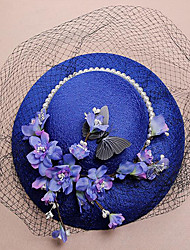 Lace Fabric Silk Net Headpiece-Wedding Special Occasion Birthday Party/ Evening Fascinators Hats 1 Piece
