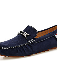 cheap -Men's Loafers & Slip-Ons Moccasin Fall Winter Suede Casual Party & Evening Black Gray Blue Khaki Flat