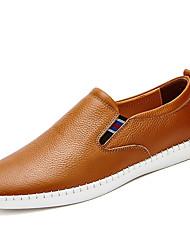 Недорогие -Для мужчин Мокасины и Свитер Удобная обувь Кожа Наппа Leather Весна Осень Повседневные Для вечеринки / ужина На плоской подошвеБелый