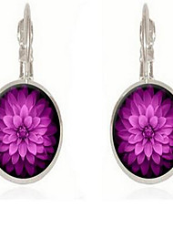 Mulheres Jóias Básico Vintage Estilo Boêmio bijuterias Vidro Forma Redonda Jóias Para Outro Encontro Ano Novo Para Noite