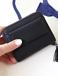 cheap -Women's Bags PU Money Clip Tassel for Event/Party Shopping Daily Casual Office & Career All Seasons Black Gray Crimson Sky Blue Pink