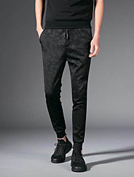 cheap -Men's Mid Rise Micro-elastic Skinny Harem Pants,Street chic Camouflage Spring Fall